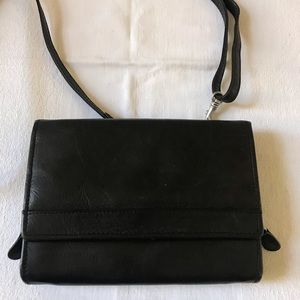 CHAOS Black Leather Crossbody bag